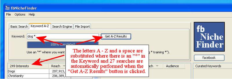 A – Z Searching