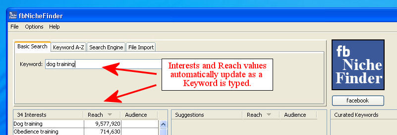 Basic Searching with Auto Fill