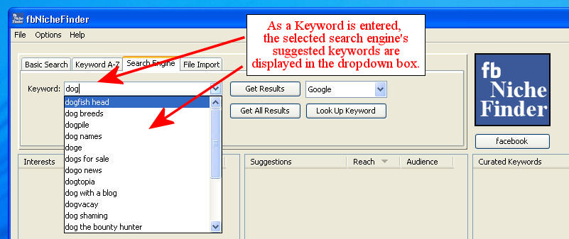Search Engine Keyword Searching